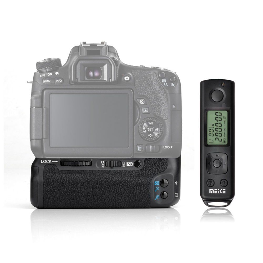 ФОТО Meike MK-760D Pro Remote Control Battery Grip for Canon EOS 760/750D as BG-E16