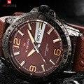 2017 top brand naviforce relojes hombres de cuarzo ocasional reloj de pulsera de cuero reloj hombre militar del ejército reloj de los hombres relogio masculino