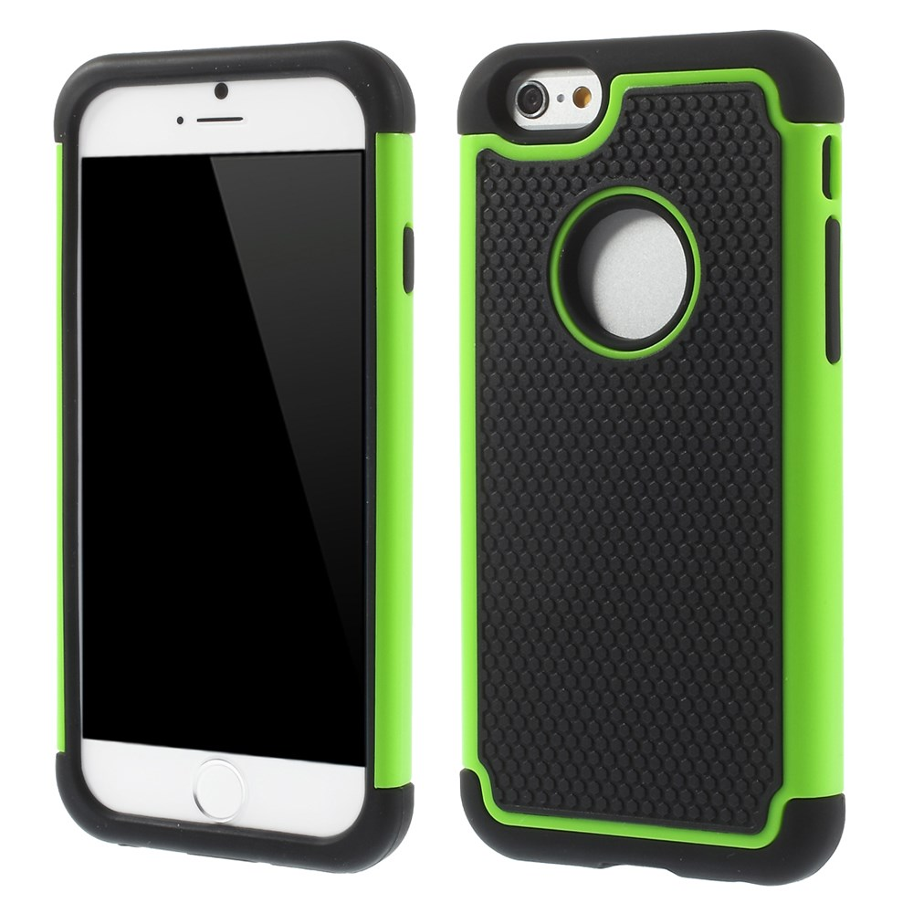 For iPhone 6 4.7 inch Football Grain PC Plus Silicone