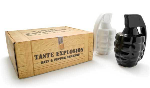 Wholesale Thabto Taste Explosion Grenade Salt and Pepper Shakers Fedex/DHL Free Shipping