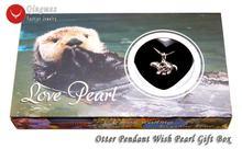 Qingmos wish pearl 20*24 мм otter cage chokers ожерелье для