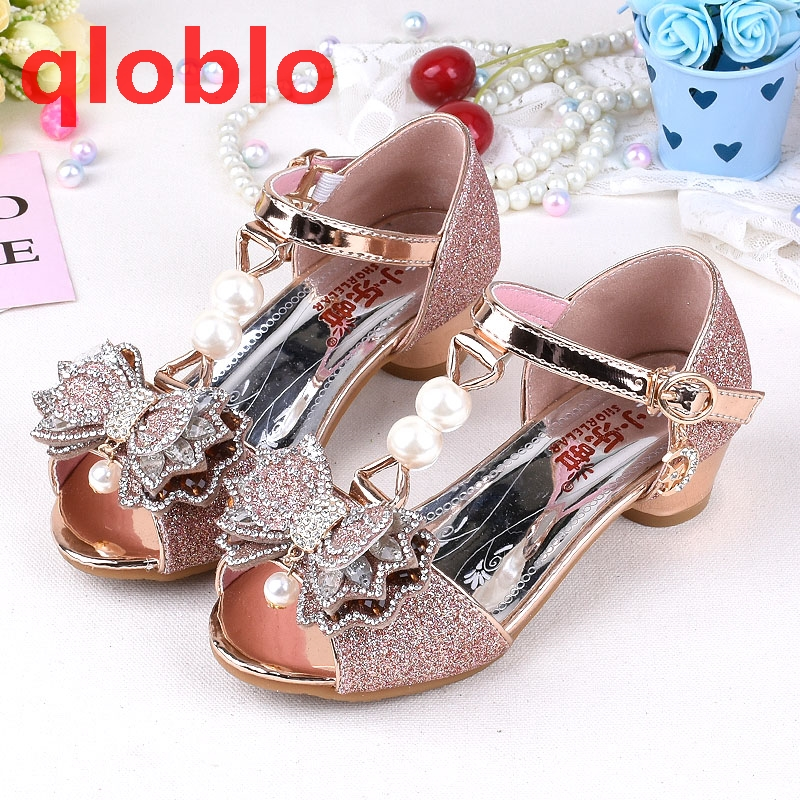 a77d384b2c6 qloblo 2018 kids butterfly sandals girls shoes child summer sandals high  heels kids princess sandal for children-in Sandals from Mother   Kids on ...