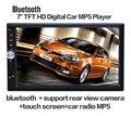 2017 Nuevo 7 ''pulgadas LCD de pantalla Táctil reproductor de radio de coche de apoyo 5 Idiomas de Menú BLUETOOTH manos libres cámara de visión trasera del coche de audio