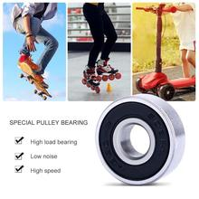 608RS 10 pcs/set Skateboard Bearings Stainless Steel Bearings ABEC-9 Double Shielded Professional for Skateboard (8 x 22 x 7) ute double sealed angular contact bearings h7205c 2rz p4 speed spindle bearings cnc ceramic ball 7205 25mmx52mmx15mm abec 7
