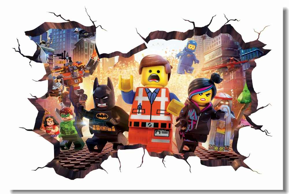 Custom Canvas Wall Mural Lego Movie Hobbit Poster Lego Batman Wallpaper 3D Wall Stickers Kids Bedroom Nursery Decorations #0781#