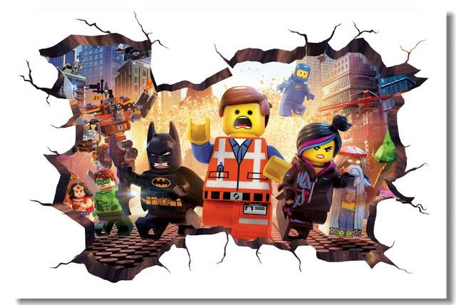 . US  5 19 35  OFF Custom Canvas Wall Mural Lego Movie Hobbit Poster Lego  Batman Wallpaper 3D Wall Stickers Kids Bedroom Nursery Decorations   0781  in