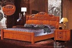 Wysokiej jakości łóżko dębowe meble do sypialni łóżko fabryczne cena dębowe łóżko 5