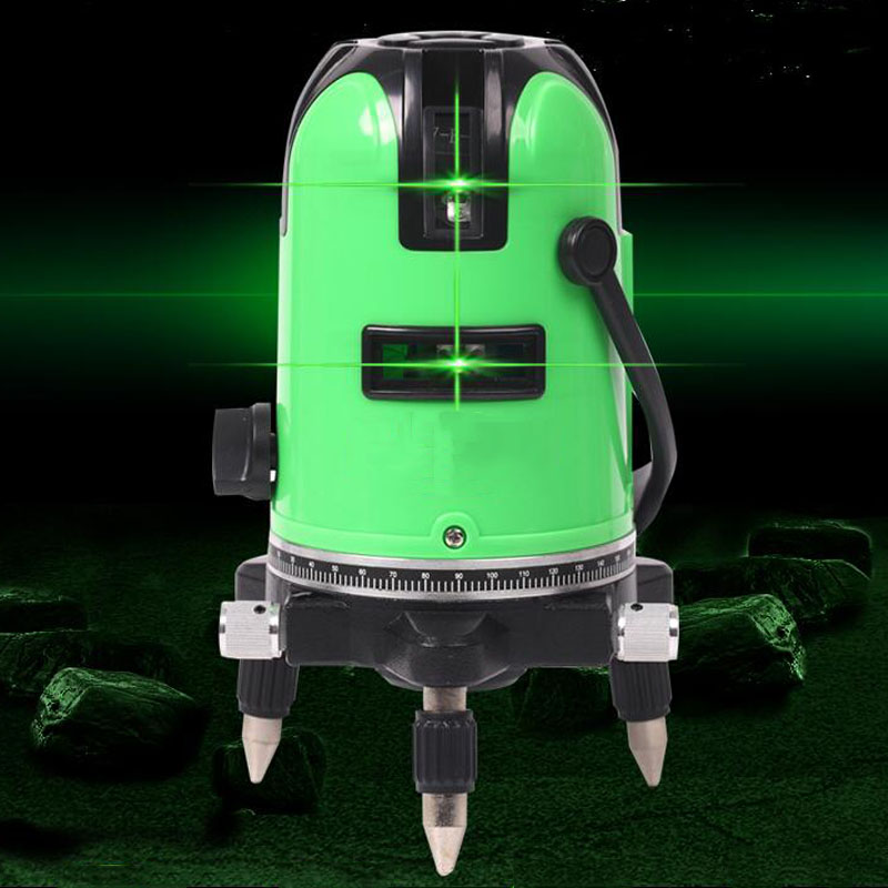 Green Laser Level Automatic Leveling 360 Vertical and Horizontal Tilting Infrared Indoor Outdoor Mode