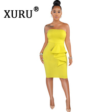 XURU New Hot Womens Bag Hip Wrap Chest Dress Fashion Sexy Street Style Solid Color Pink Yellow Black