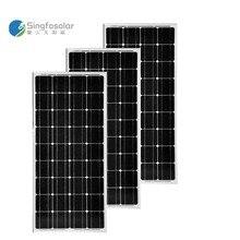 Solar Panel 100w Monocrystalline 3 Pcs/Lot Pannello Fotovoltaico 12v 300W Battery Charger 12V RV Motorhome Caravan Yacht