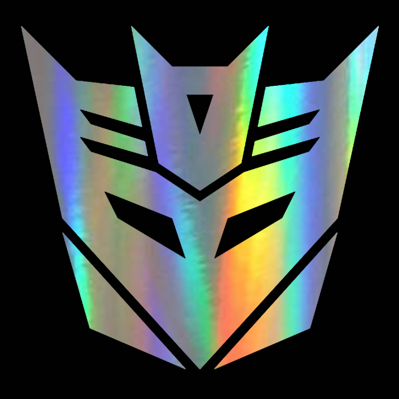 Large New Chrome Aluminium Autobot Transformers Emblem Badge Car Stickers