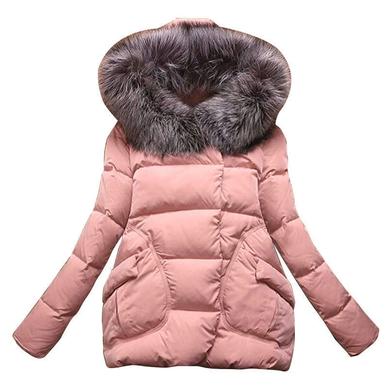 SHOWNO Womens Basic Hooded Pockets Outdoor Thicken Buttons Pea Coat Jacket