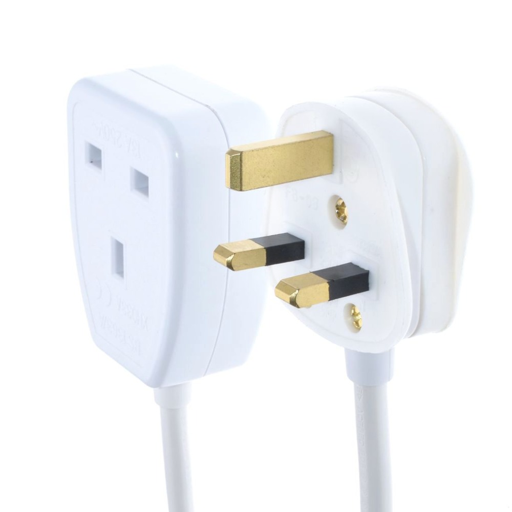 UK extension Power Cord IEC UK 3Pin Male Plug to UK 3Pin Female Outlet Socket HongKong Power Cable Extented in Power Cords Extension Cords from Home Improvement