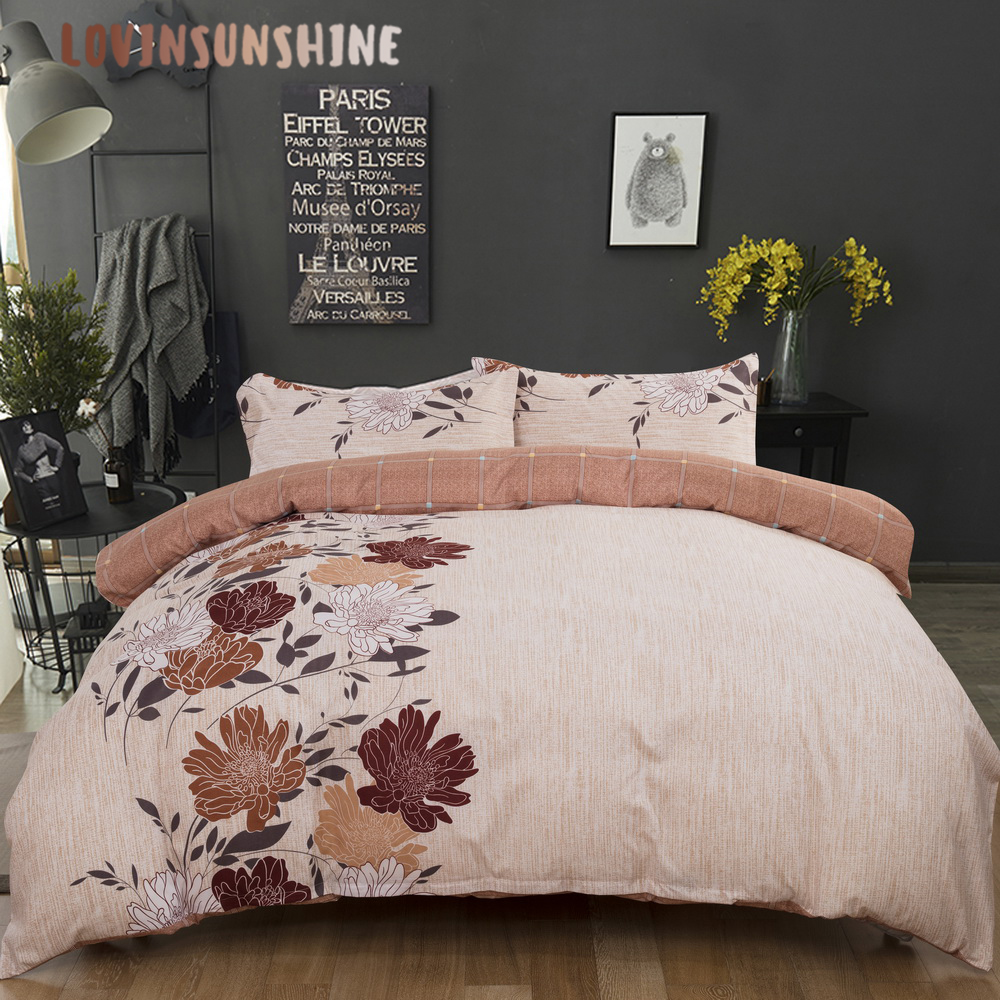 LOVINSUNSHINE Quilt Cover Set Bedding And Bed Sets Simple Flower Design For Adult Duvet Cover Queen AB#120