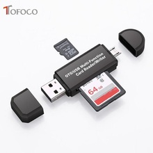 Buy Type C & micro USB & USB 3 In 1 OTG Card Reader High-speed USB2.0 Universal OTG TF/SD for Android Computer Extension Headers directly from merchant!