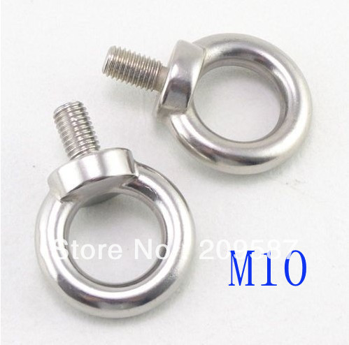 5pcs Eyes Bolts M10 Metric Threaded Marine Grade Boat Stainless Steel Lifting