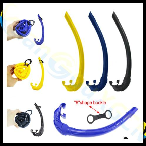 10pcs adult All Silicone full Wet Breathing Tube Full Silica Gel Foldable Snorkeling Snorkel Diving Scuba
