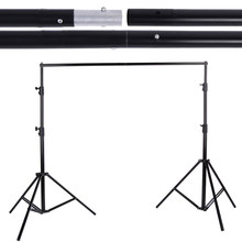 2.8 * 3m Adjustable Backdrop Stand Crossbar Kit Set Photography Background Support System for Muslins Backdrop