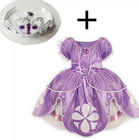 2015 Princess Sofia Dress ,Baby Girl Princesa Sophia Costume For Party ,Sofia The First Roupas Infantil Meninas. Sofia Crown set