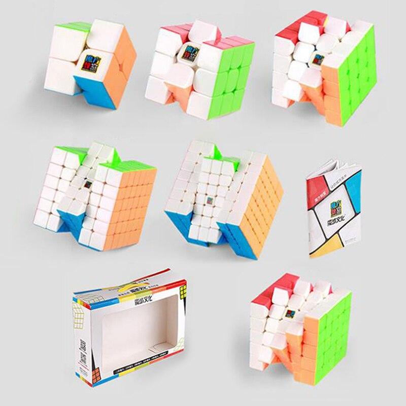D-fantix Moyu Cubing classe Cube magique ensemble 6 pièces 2x2 3x3 4x4 5x5 6x6 7x7 Cube de vitesse avec boîte-cadeau Puzzle éducation jouets