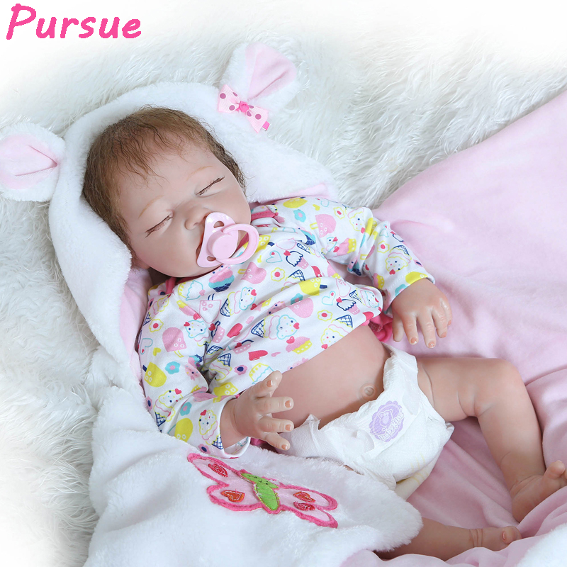 Pursue Reborn Newborn Baby Doll Alive bebe reborn menino Silicone Reborn Babies Reborn 55 cm Dolls for Girls Boys Doll Baby Real александр дюма серия книжная коллекция мк комплект из 27 книг