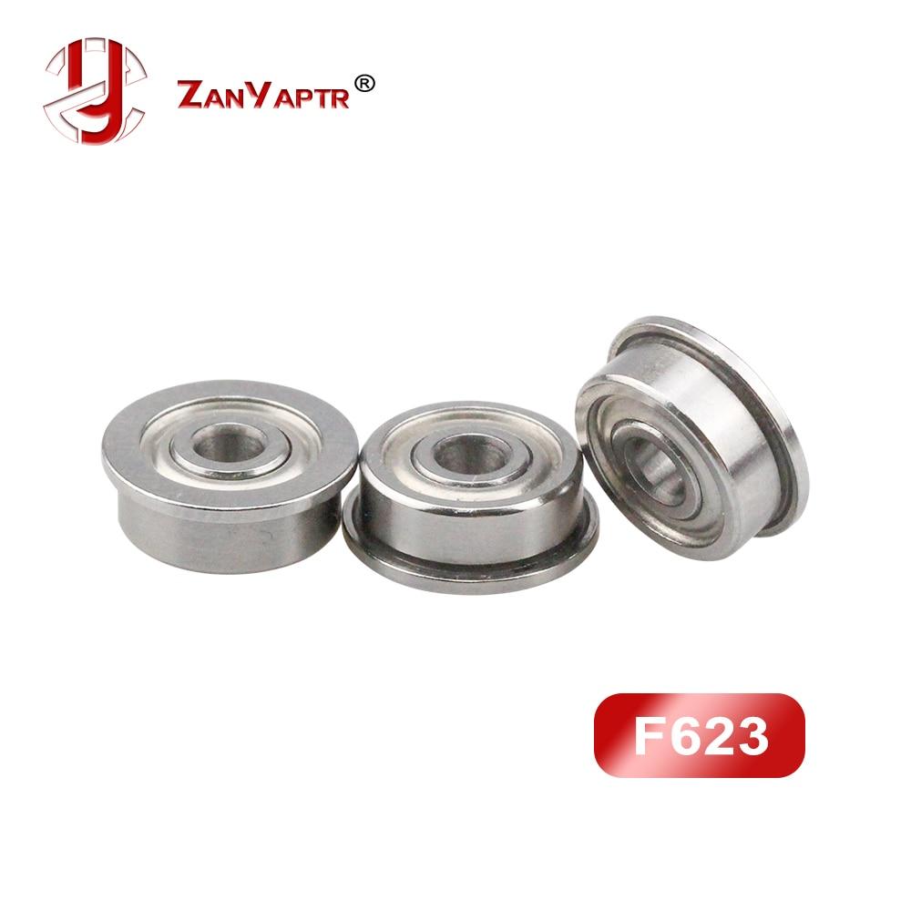10 Pcs/lot F623 ZZ Flange Bushing Ball Bearings F623ZZ 3*10*4 Mm Free Shipping For 3D Printer