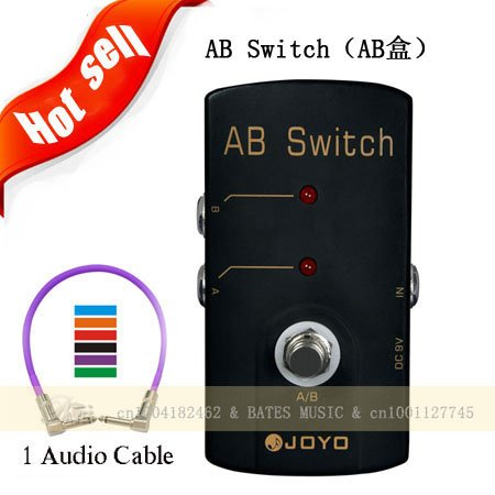 2012 free shipping guitar effects pedals joyo jf 30 ab switch selector switch box line true. Black Bedroom Furniture Sets. Home Design Ideas