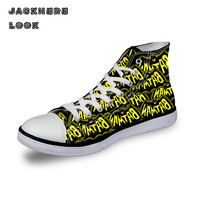 JACKHERELOOK Classic High Top Canvas Shoes For Men Fashion Super Hero Green Lantern Spiderman Printed Casual