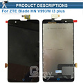 Blade L3 PLUS l3+ LCD Display+Touch Screen Original Digitizer Glass Panel Assembly For ZTE Blade HN V993W l3 plus 5.0'' +tools