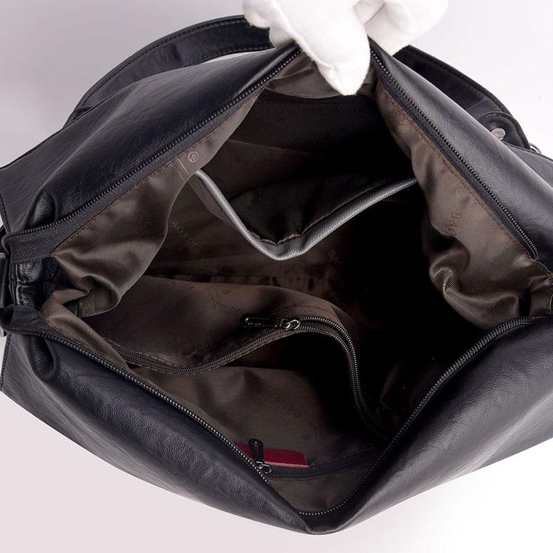 Image 4 - 2019 Large Capacity Women Messenger Bag Designer Women Bags Real  Leather Luxury Ladies Shoulder Bag sac a main Lady Big ToteShoulder  Bags
