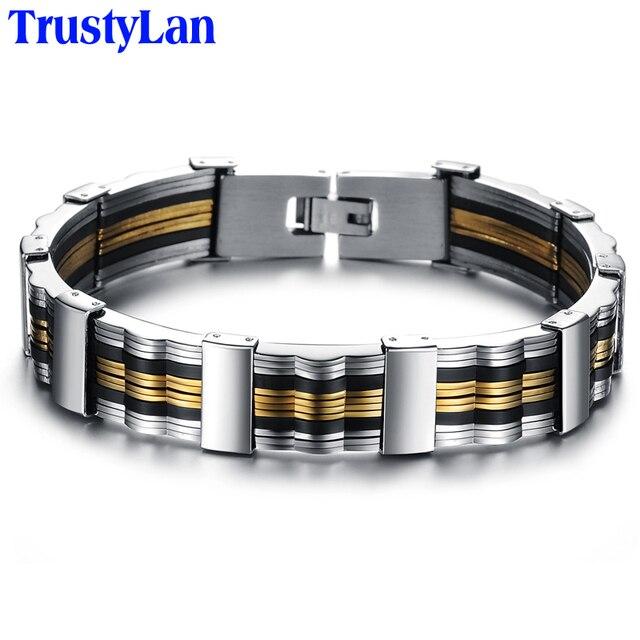 TrustyLan Neue Mode Gold Farbe Schmuck Für Männer Link Kette Armband Männer  Beste Freunde Männlichen Armbänder 91eb1a1dda
