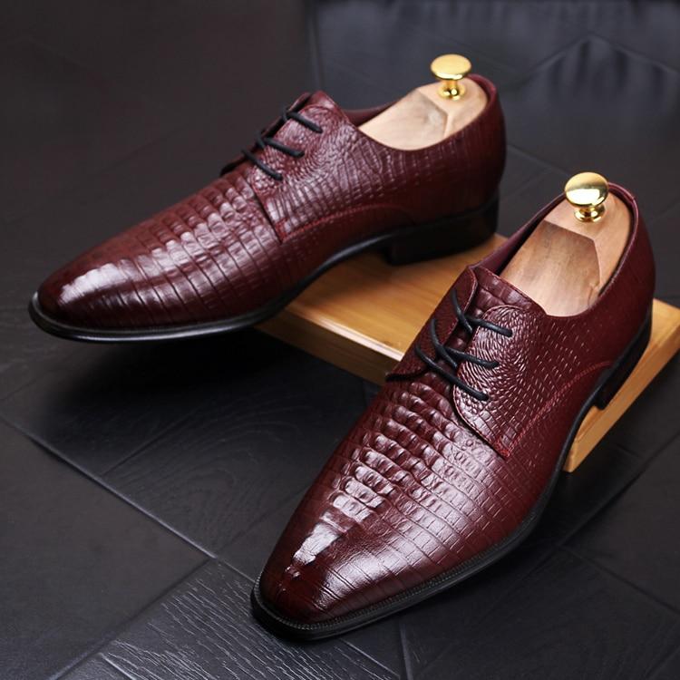 Marque De Chaussures Oxford Noir Formel Mens Costume Cuir Robe Bout vin Homme Mariage 2a jaune Mode En Véritable Rouge Pointu Luxe Italien rgvfwqxrd