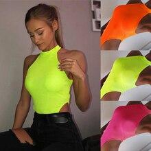 2019 Brand New Summer Ladies Women Sleeveless Sexy  Bodysuit Leotard Blouse  Tank Stretch Jumpsuit Slim Tops Party Night цена