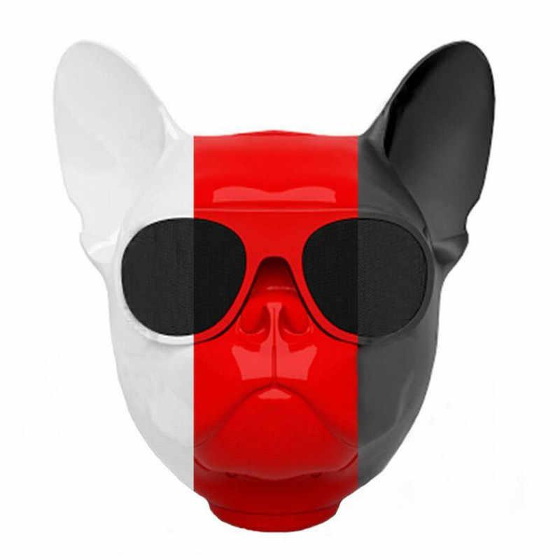 新ポータブルエアロ雄牛犬ブルドッグ bluetooth 4.1 ワイヤレススピーカーステレオサブウーファースピーカーフォン互換 tf カード