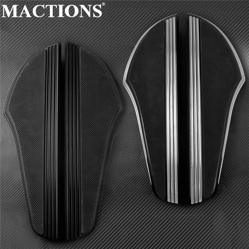 Motorcycle Rider Non-slip Floorboard Footboard CNC Aluminum Black/Black&Chrome For Indian Chief Classic 2014-2019