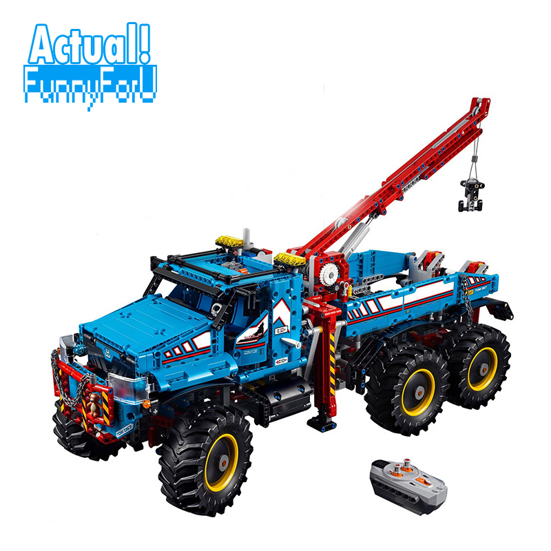 LEPIN 20056 All Terrain Tow Truck Technic Building Blocks Bricks Toys Educational For Children brinquedo 1912PCS legoINGly 42070