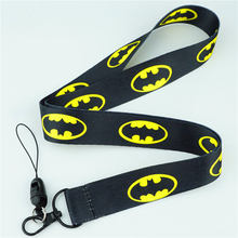 Newest Comic Superhero Justice League Batman Neck Strap Lanyards ID badge card holder keychain Mobile Phone Strap Gift