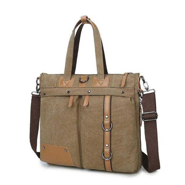 c68373259fe3 US $48.26 15% OFF|Canvas Laptop bag 14 13.3 13 inch Shoulder bag Messenger  bag men Canvas FOR Multifunctional combination Backpack High quality-in ...