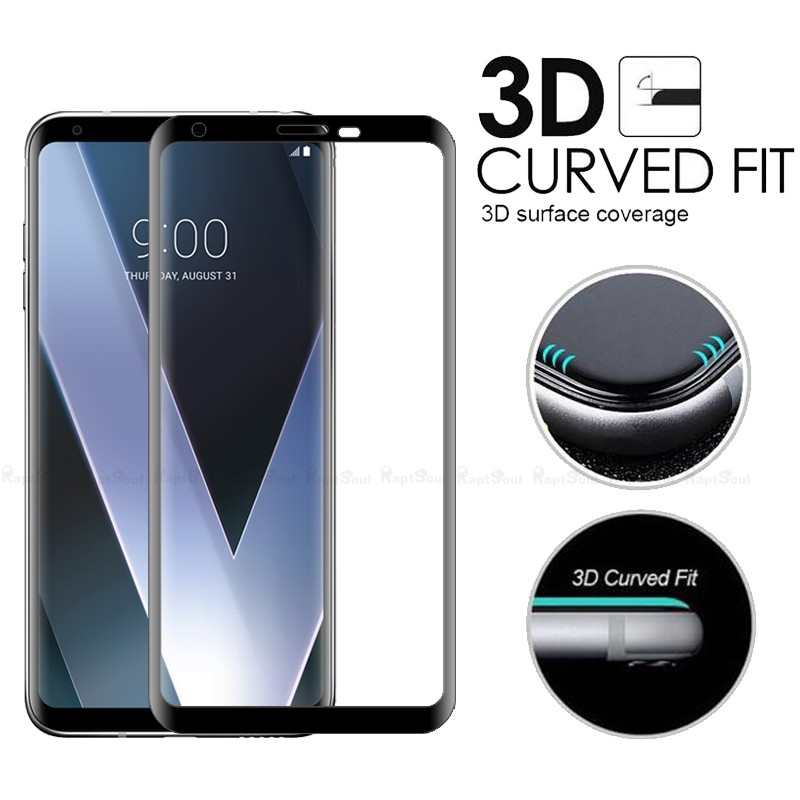 Image 2 - 3D Curved Edge Toughened Full Cover Tempered Glass For LG V30 V30S V35 V40 V50 G8 G7 Plus ThinQ Screen Protector Protective Film-in Phone Screen Protectors from Cellphones & Telecommunications