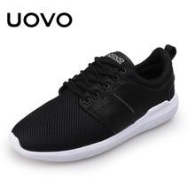 Sportschoenen Heren loopschoenen met ademend mesh lace up populair UOVO 2018 Light Sneakers heren zomerschoenen Eur # 40-44
