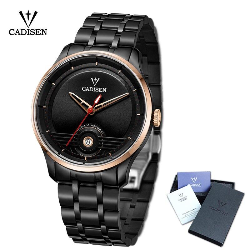 купить 2018 New CADISEN Men Watch Automatic Stainless steel Fashion Business Top Brand Luxury Waterproof Wristwatch по цене 17380.16 рублей