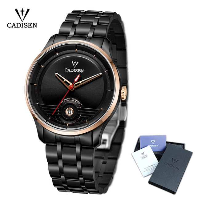 2018 New CADISEN Men Watch Automatic Stainless steel Fashion Business Top  Brand Luxury Waterproof Wristwatch 5313e842a1b
