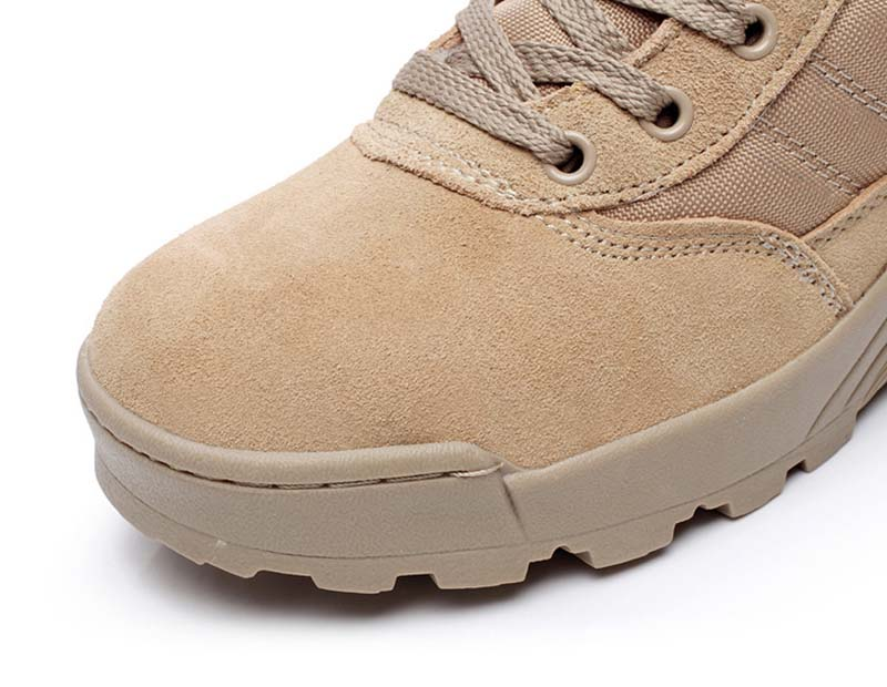 a5dbbba824e New exhibition Work boots men Desert Tactical Martin army boots Outdoor  Hiking Shoes Travel Leather High Boot Male39-44