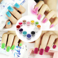12PCS Decorate Velvet Fiber Nail Polish Professional Nail Art Cosmetics Varnish Nail Enamel