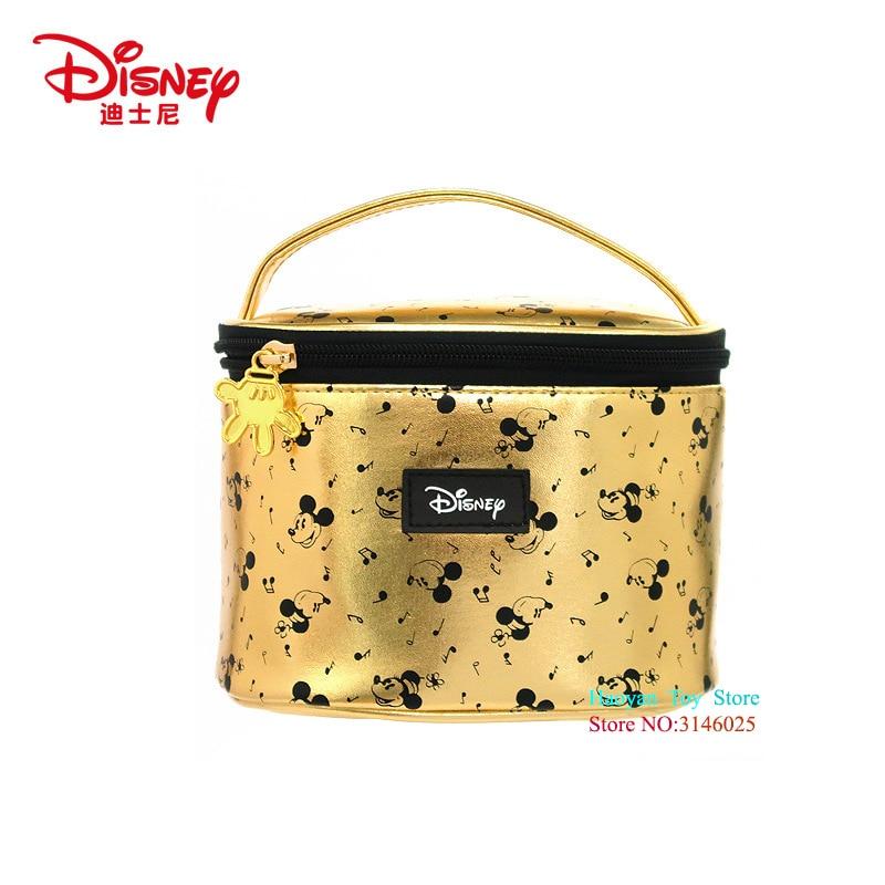 Купить с кэшбэком Genuine Disney Mickey Mouse Multi-function Women Bag Wallet Purse Baby Care Bag Fashion Mummy Bag Girls Gift Disney Hot Sale Set