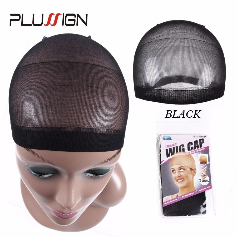 Unisex nylon bald wig hair cap stocking liner snood mesh stretch nude beige