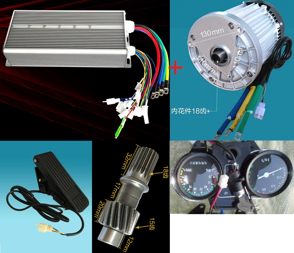 Fast Shipping 3000W 60V DC 36 mofset 1pc brushless motor 1pc controller E bike electric bicycle