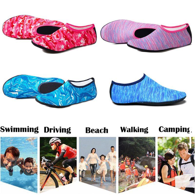 Women Men Summer Yoga Sport Beach Water Shoes Camouflage Print Diving Snorkeling Aqua Socks Swimming Quick-Dry Barefoot Slipper