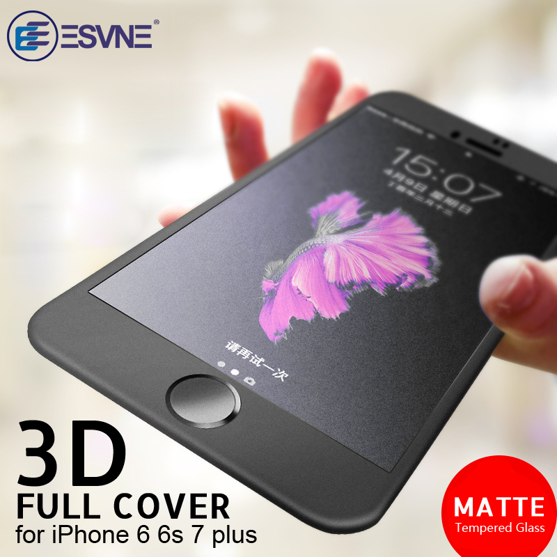 ESVNE 3D Soft Edge Matte Tempered Glass For Iphone 6 7 Glass Premium Film 9H Hardness 6s Plus Screen Protector Anti-Fingerprint