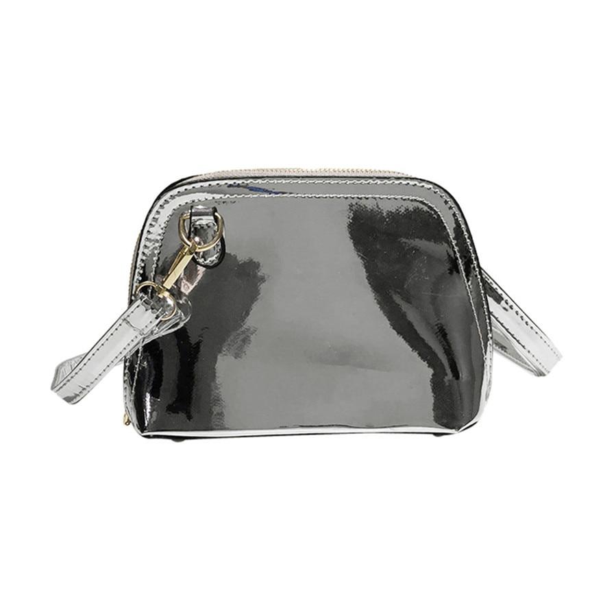 New Arrival Women Girl Fashion Laser Shell Bag Pattern Leather Crossbody Bag Ladies Mini Shoulder Bag Zipper Beach Bag Bolsos S